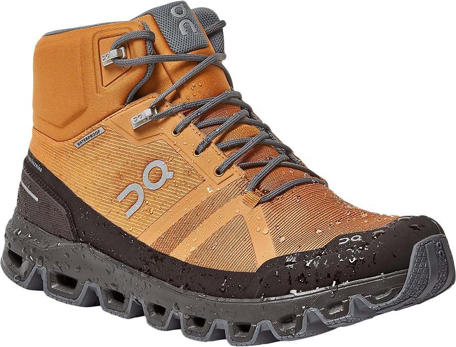 On Cloudrock Waterproof Men's Hiking Shoes, UK 7 Pecan/Brown