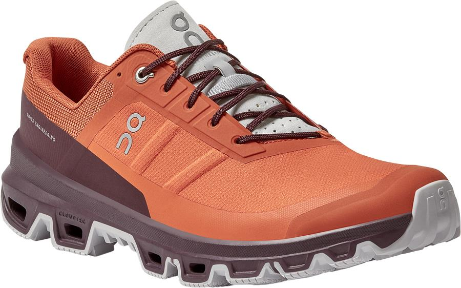 On Cloudventure Men's Running Shoes, UK 12 Flare/Mulberry