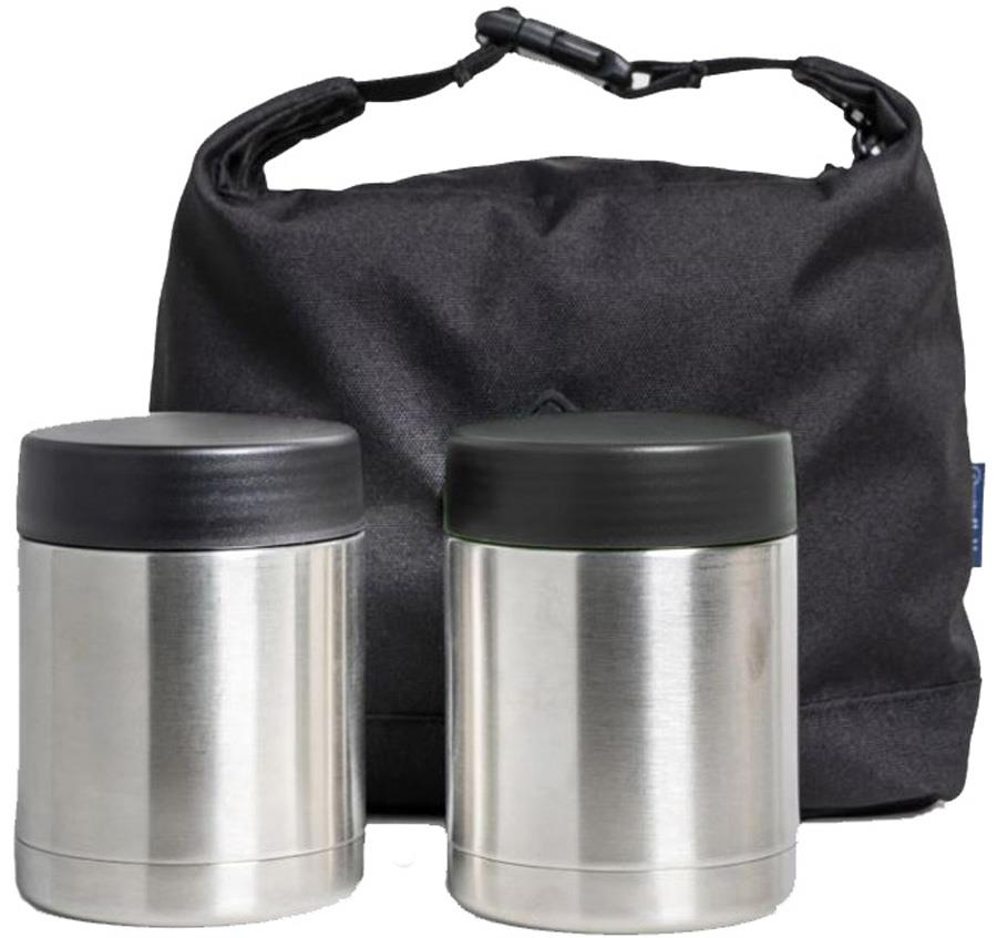 United By Blue Container Kit Vacuum Insulated Flasks & Bag, Black