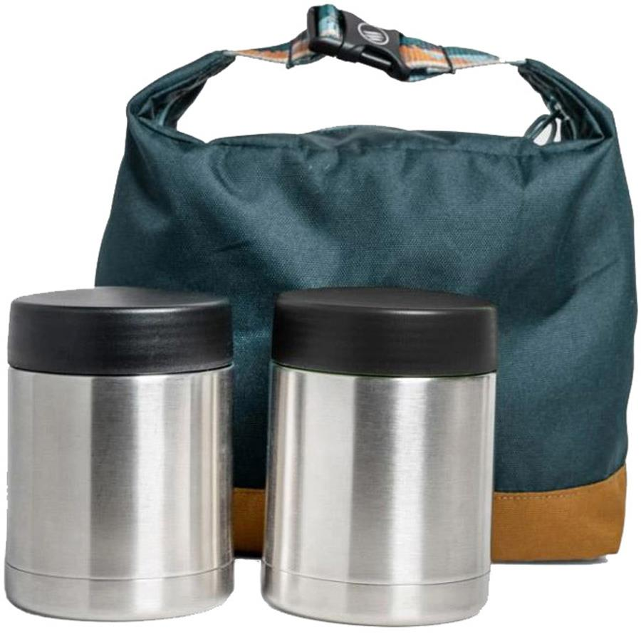 United By Blue Container Kit Vacuum Insulated Flasks & Bag Green