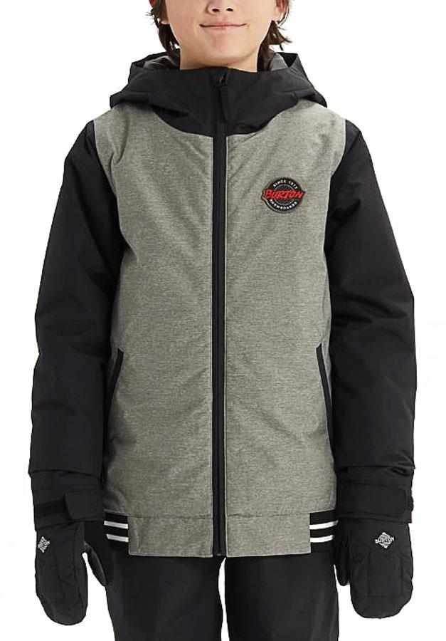 Burton Gameday Boy's Snowboard/Ski Jacket, L Grey/Black