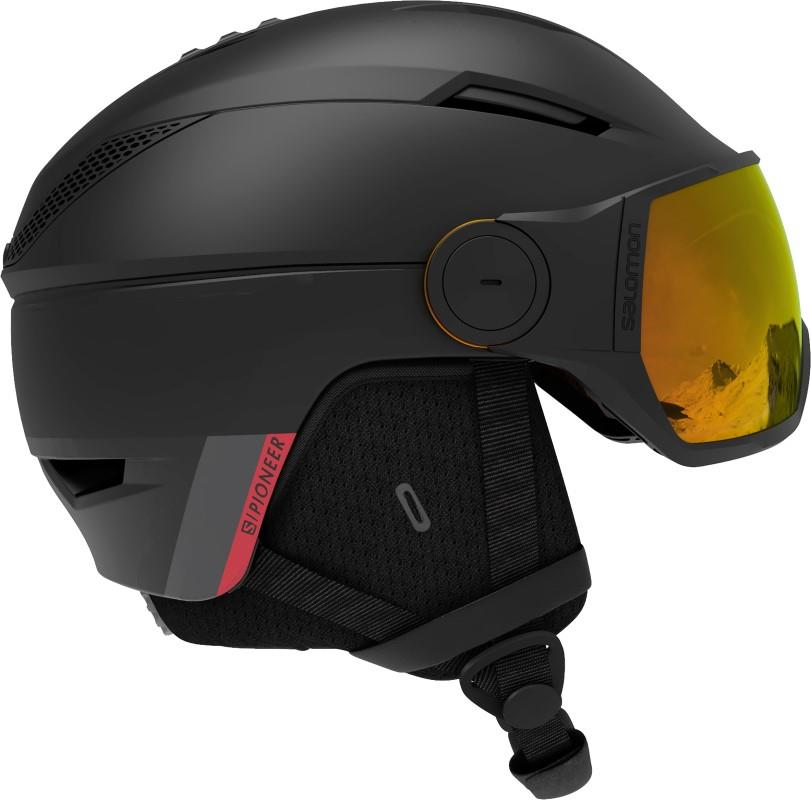 Salomon Icon2 Visor Silver Women's Snowboard/Ski Helmet S Black/Red