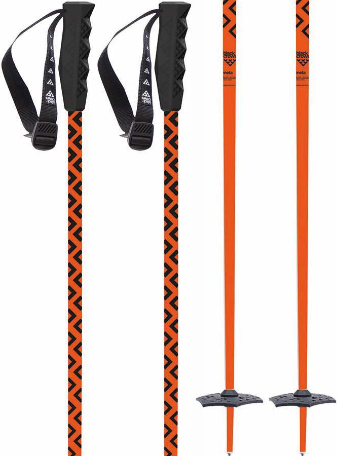 Black Crows Meta Pair Of Ski Poles, 115cm Orange/Black
