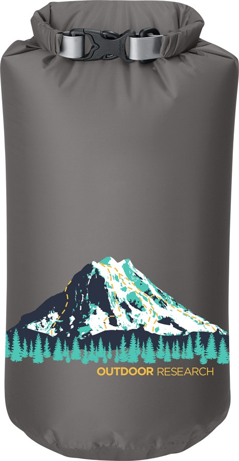 Outdoor Research Graphic Dry Sack Equipment Dry Bag, 15L Rainier