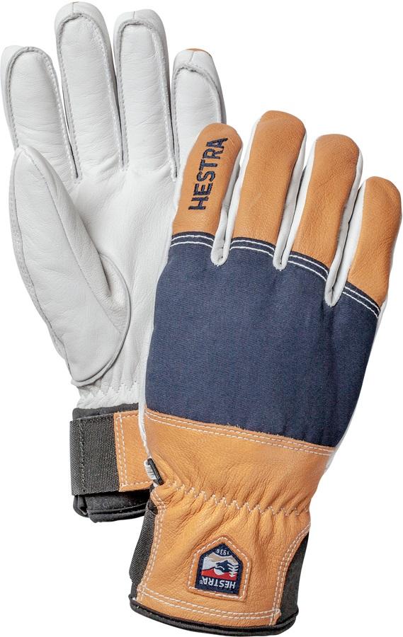 Hestra Army Leather Abisko Ski/Snowboard Gloves, S Navy