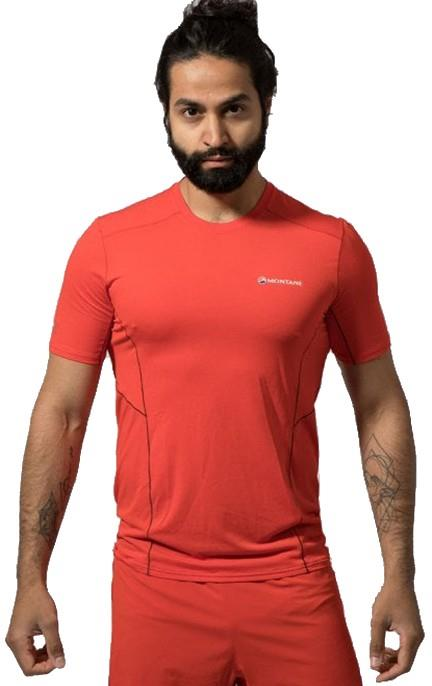Montane Sabre Short Sleeve Technical Base Layer Top S Flag Red