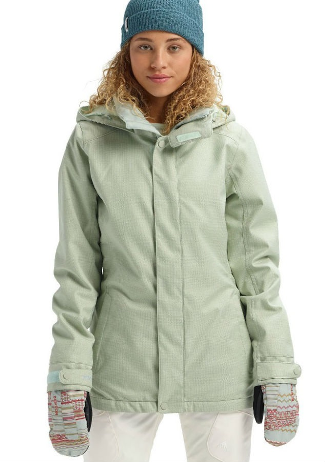 Burton Jet Set Women's Snowboard/Ski Jacket, S Aqua Gray