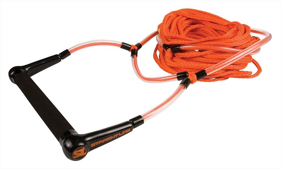 Straight Line ELEVATE Deep V Handle Rope WaterSki Combo, 3 Sect Orange