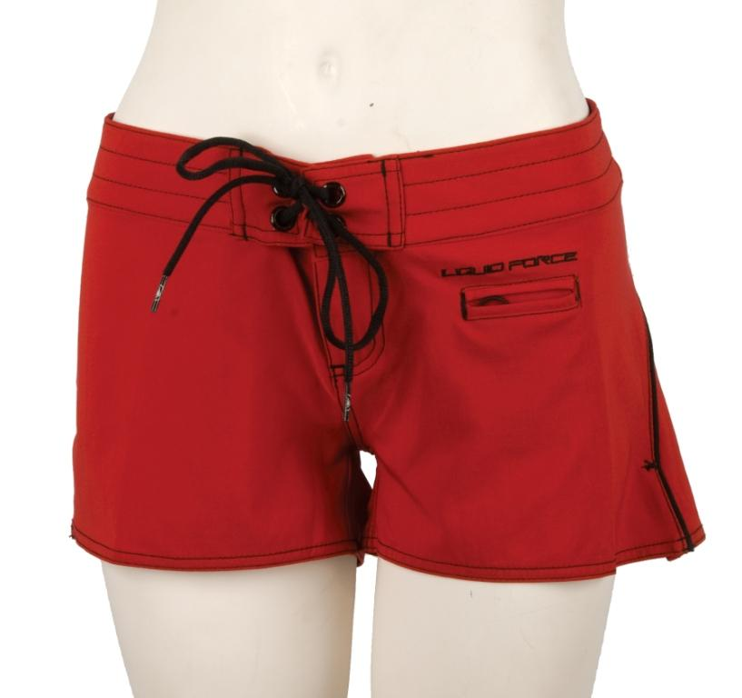 Liquid Force Double Threat Board Shorts, UK 8 US 4 Eur 36 Red