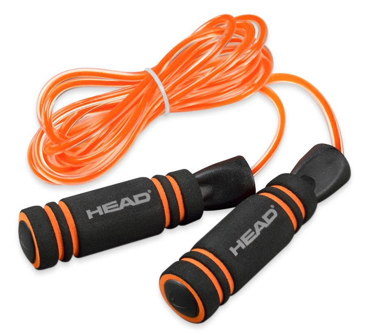 Head Jump Rope Fitness Skipping Rope, 3M Orange
