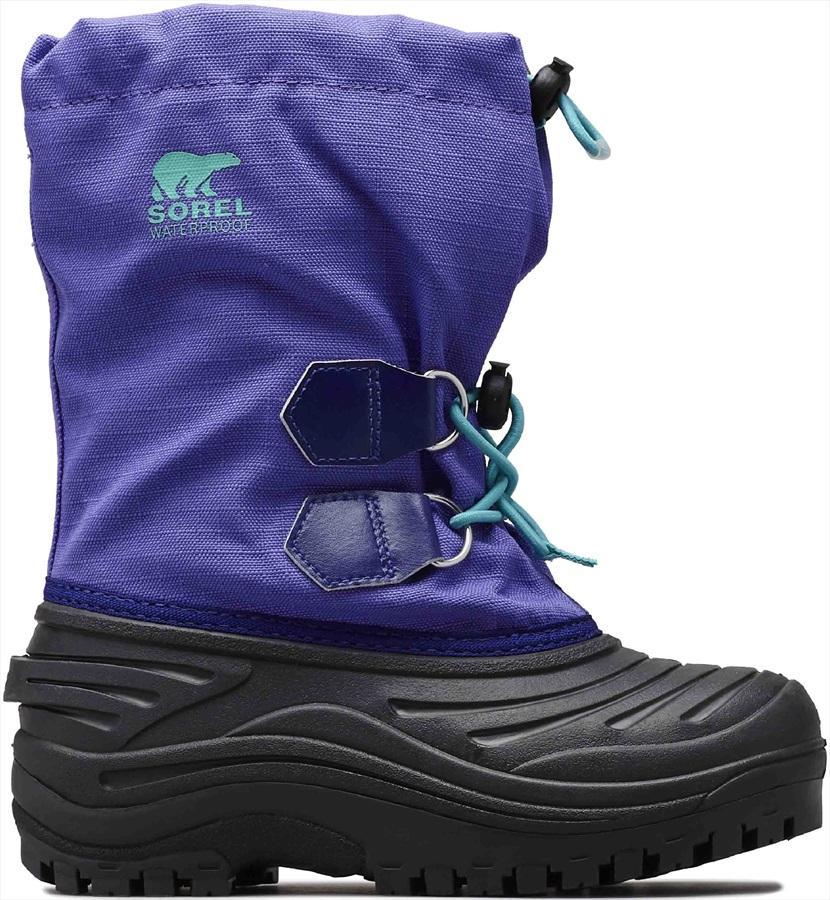 Sorel Super Trooper Kid's Snow Boots, UK 3 Purple Arrow/Reef