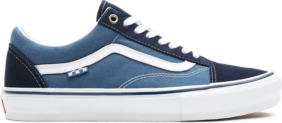 Vans Skate Old Skool Trainers/Shoes, UK 7 Navy/White