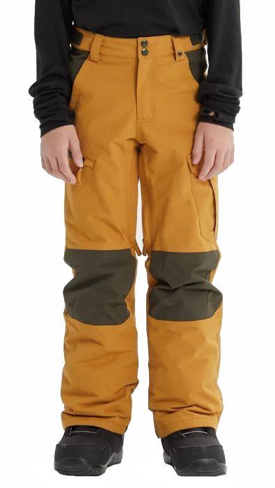 Burton Boys Exile Cargo Snowboard Ski Pants, M Wood Thrush