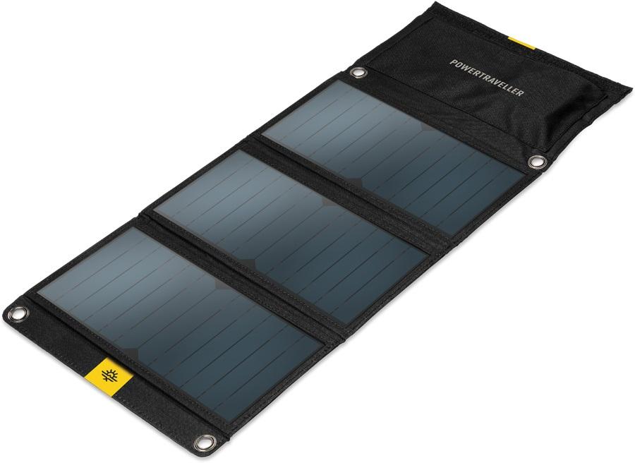 PowerTraveller Falcon 21 Portable Multi Voltage Solar Panel, Black