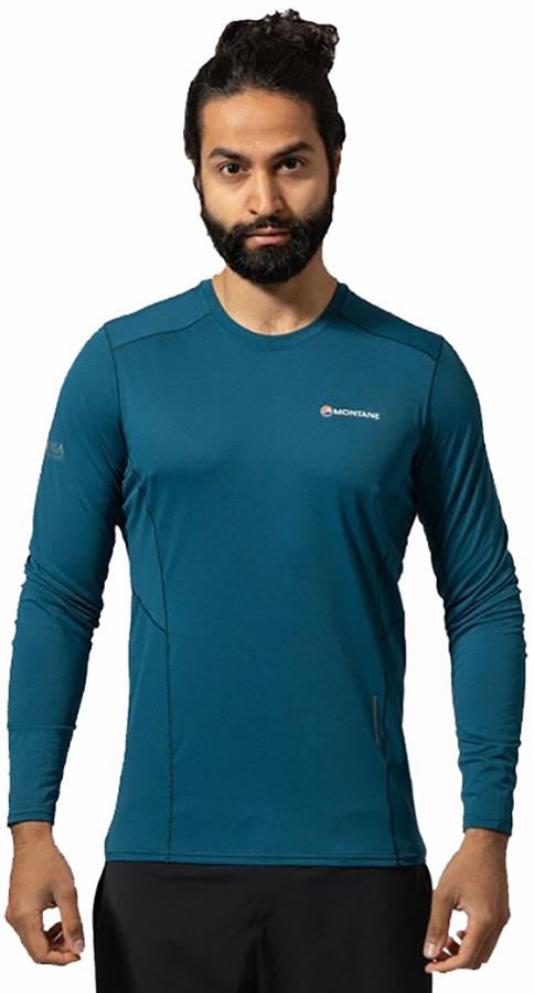 Montane Sabre Technical Long Sleeve Base Layer Top, XL Narwhal Blue