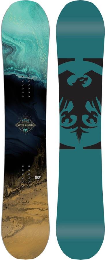 Never Summer Infinity Women's Rocker Camber Snowboard, 149cm 2020