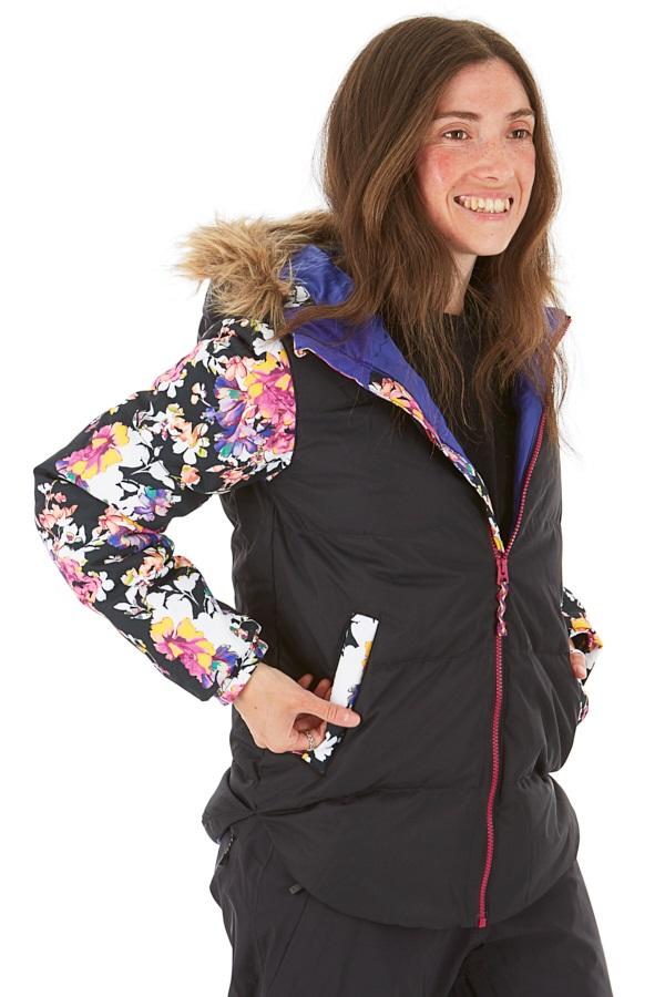 Burton Ramblewild Girls Snowboard/Ski Jacket, M True Black/Sctgdn