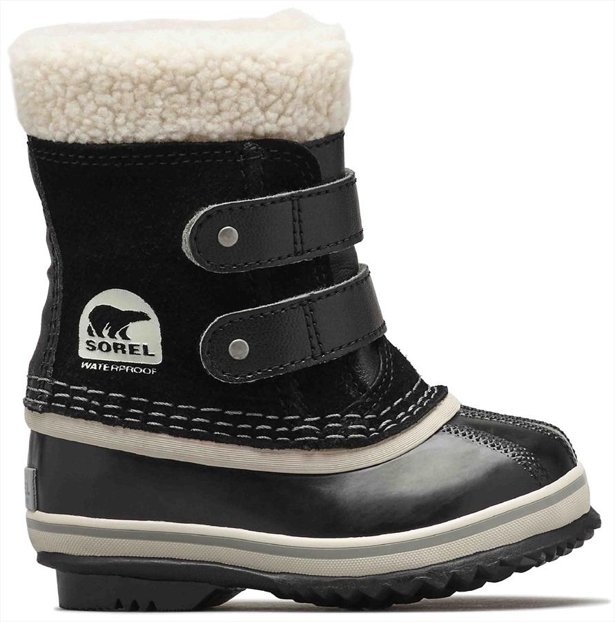 Sorel 1964 Pac Strap Kid's Snow Boots, UK Infant 4 Black