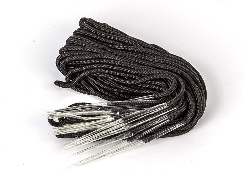 O'Brien Laces For Wakeboard Bindings ONE PAIR Black Thick