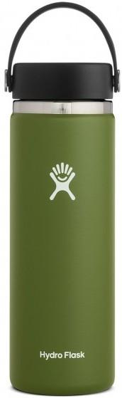 Hydro Flask 20oz Wide Mouth With Flex Cap 2.0 Water Bottle, Olive