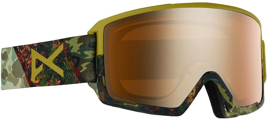 Anon M3 Sonar Bronze Ski/Snowboard Goggles, M/L MFI Camo