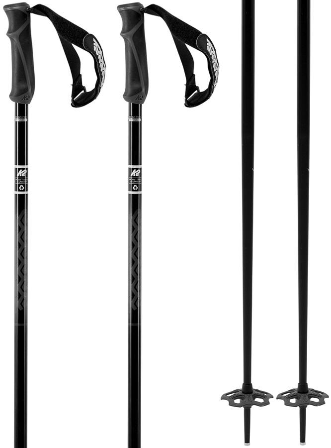 K2 Freeride 18 Ski Poles, 105cm Black