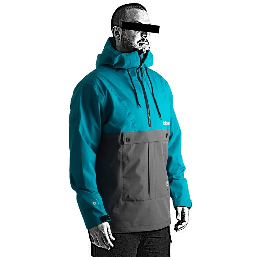 Follow Layer 3.11 Outer Spray Anorak, M Teal 2021