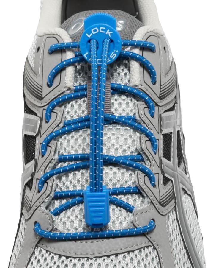 Lock Laces No-Tie Replacement Elastic Shoelaces, Royal Blue