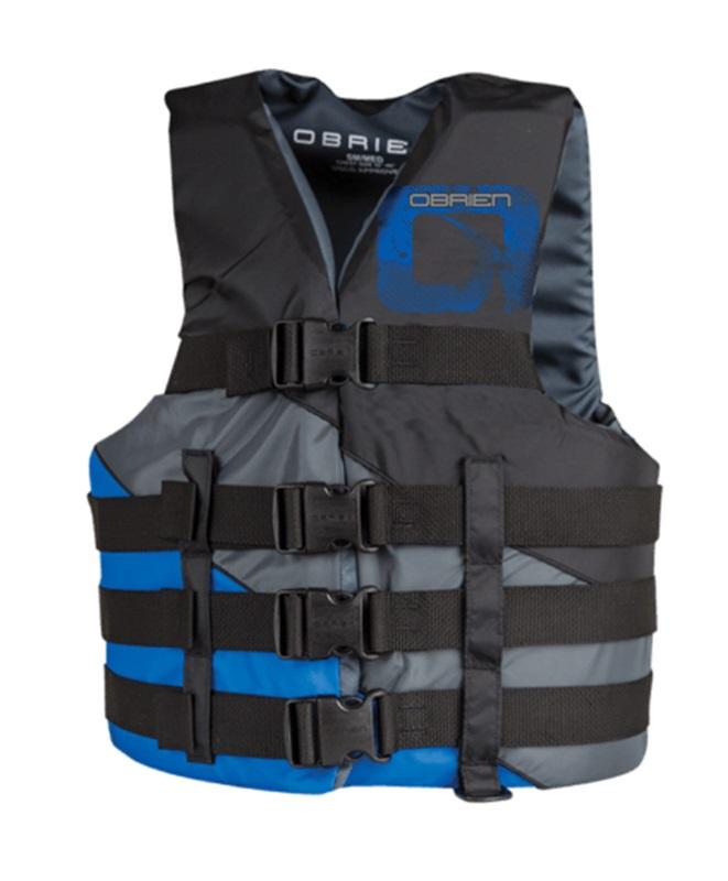 O'Brien 4 Buckle Adjustable CE Buoyancy Aid Vest, L-XL Blue Black 2021
