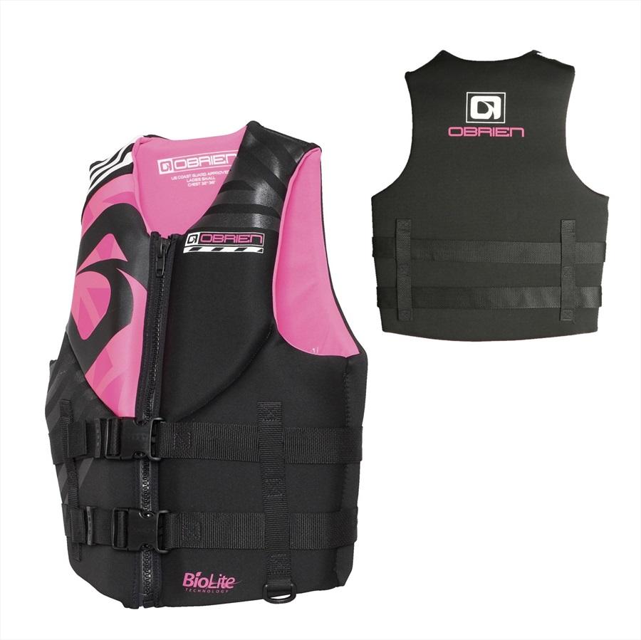O'Brien Empress Ladies Neo Buoyancy Aid Vest, L Black Pink