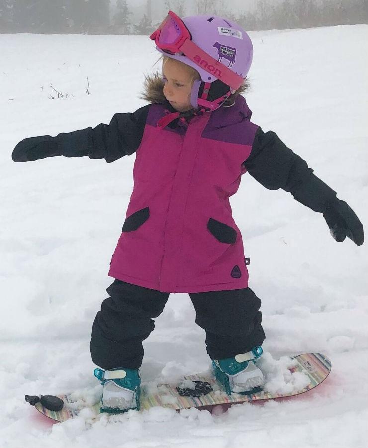 Burton Aubrey Girls Snowboard/Ski Parka, 4T Fuschia Red Multi