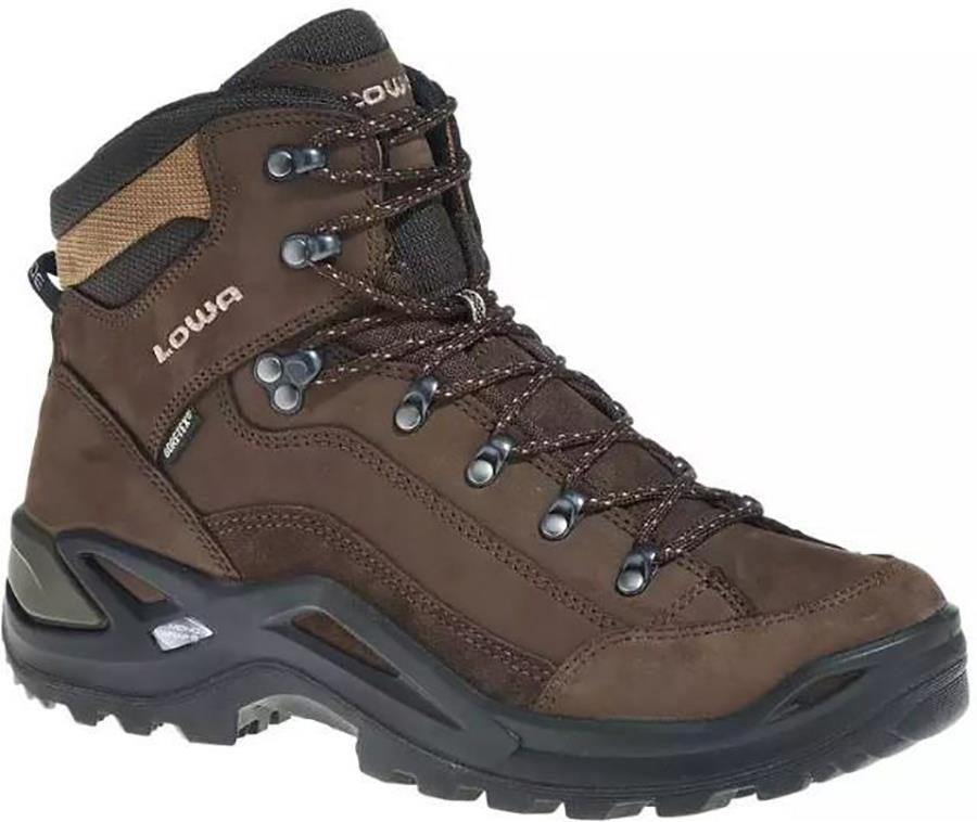 Lowa Renegade GTX Mid Wide Men's Hiking Boots, UK 7.5 Espresso