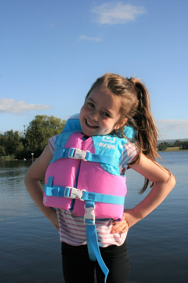 O'Brien Kids Nylon Buoyancy Aid Jacket With Collar, Infant Blue Pink