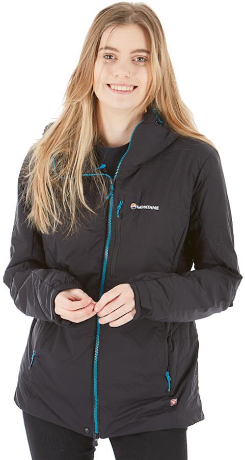 Montane Fluxmatic Women's Insulated Hiking Jacket, UK 10 Black
