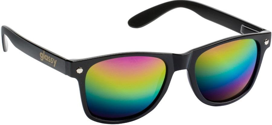 Glassy Sunhaters Leonard Sunglasses Black Coloured Mirror Lens