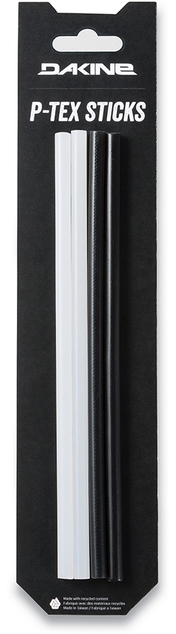Dakine P-TEX Sticks Snowboard/Ski Base Repair, Four Sticks Black/Clear