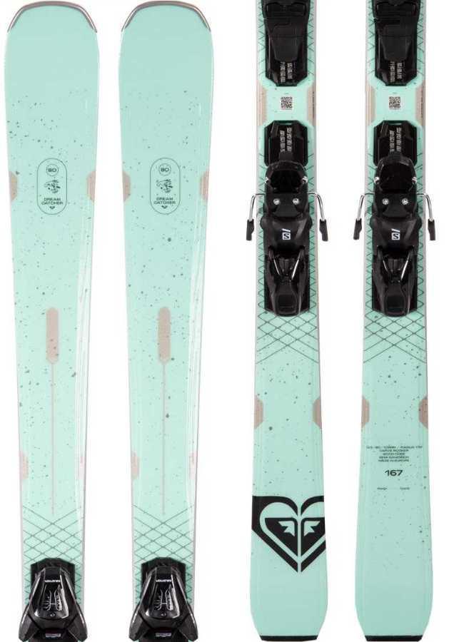 Roxy Dreamcatcher 80 E M 10 GW Women's Skis, 167cm Turquoise 2021