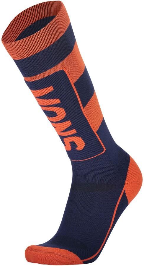 Mons Royale Adult Unisex Mons Tech Cushion Men's Ski/Snowboard Socks, S Navy/Orange