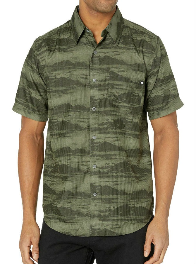 Marmot Syrocco SS Technical Outdoor Shirt, L Crocodile Mountains