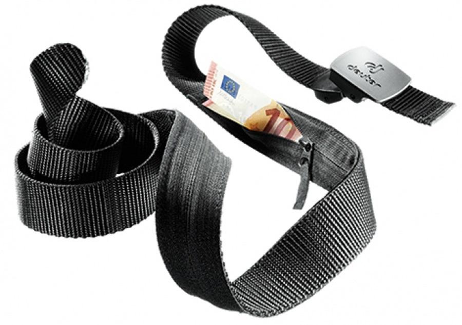 Deuter Security, Hidden Zip Pocket Money Belt, 135cm Black