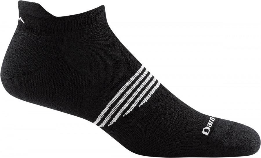 Darn Tough Element No Show Tab Lightweight Running Socks, L Black