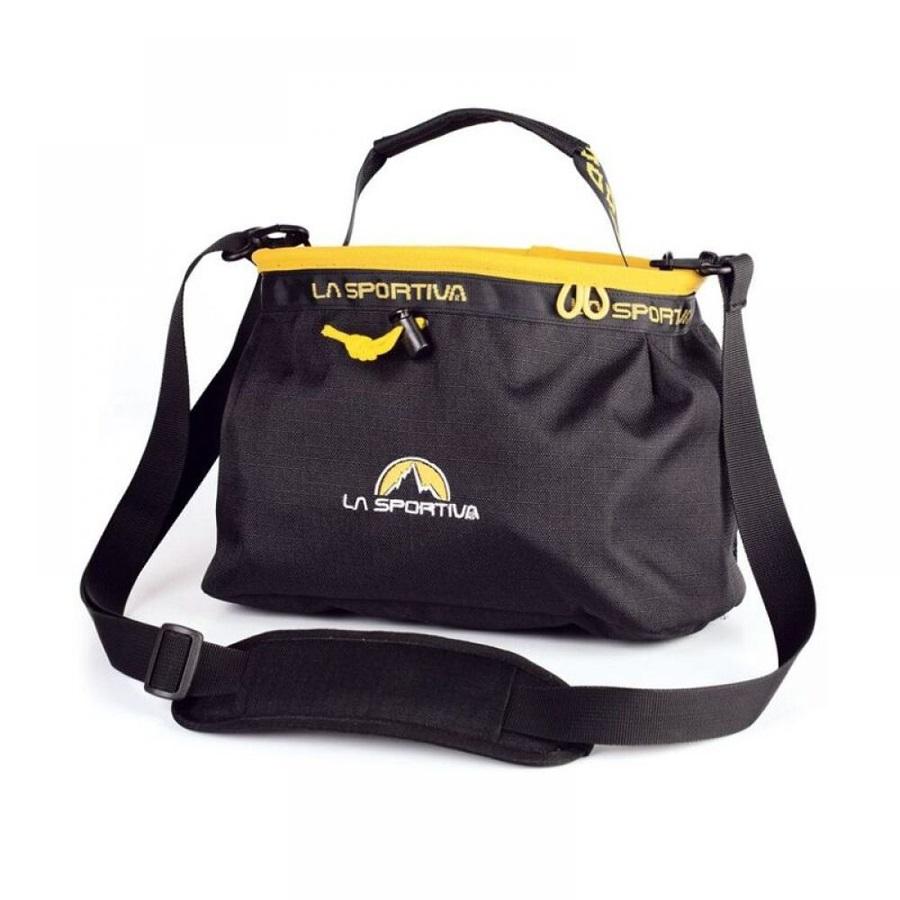 La Sportiva Boulder Bouldering Chalk Bag, Black/Yellow