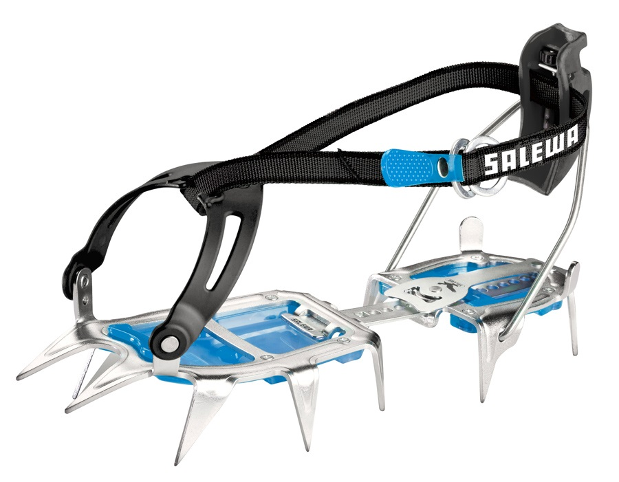 Salewa Alpinist Alu Combi Lightweight Hybrid Crampon, UK 3-13 Blue