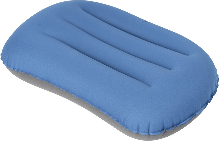 Bo-Camp Stretch Inflatable Cushion Travel & Camping Pillow, Blue