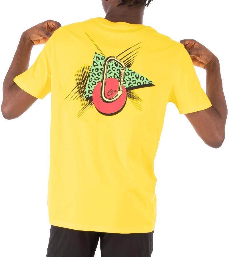 3rd Rock Adult Unisex Mens Biner There T-Shirt Organic Cotton Tee, S Custard