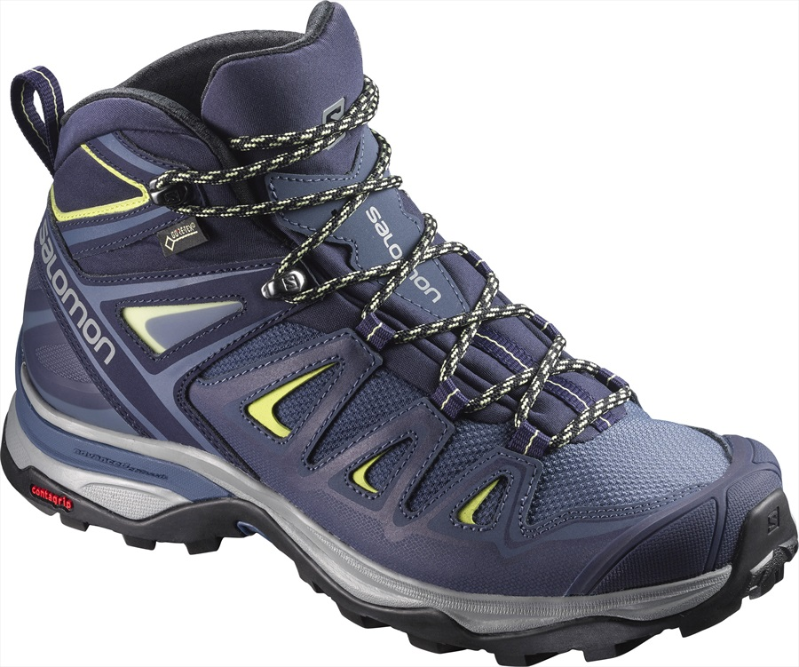 Salomon Womens X ULTRA 3 Mid GTX Hiking Boots, UK5.5 Crown Blue
