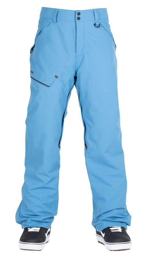 Bonfire Surface Textured Ski/Snowboard Pants, XL Blue