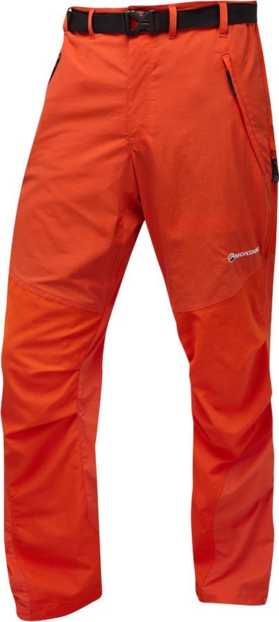 Montane Terra Pants 4 Season Hiking/Walking Trousers, L Firefly Orange