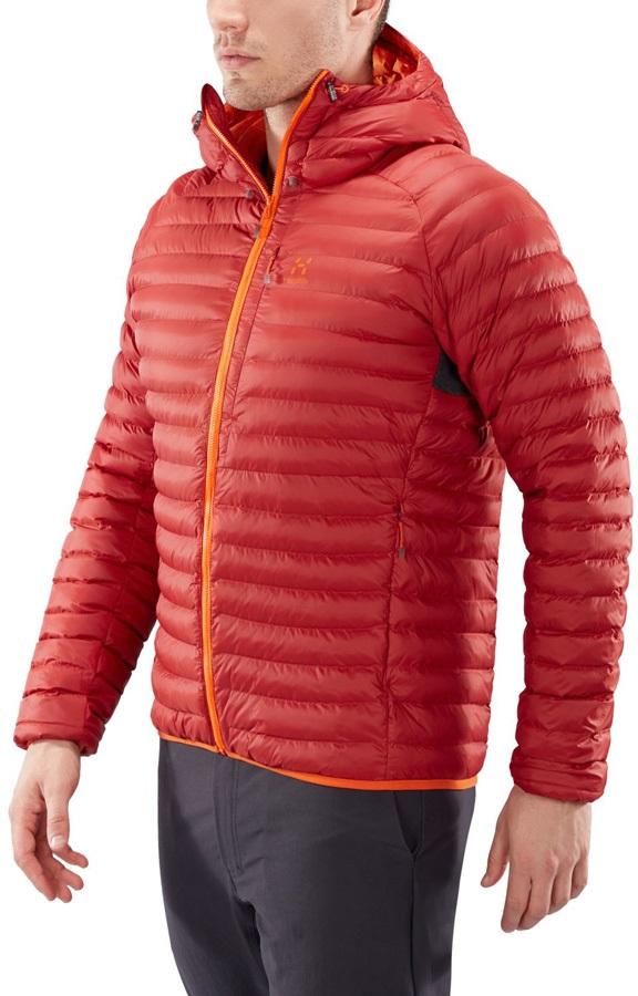 Haglofs Essens Mimic Hood Insulated Jacket, S Rubin Cayenne