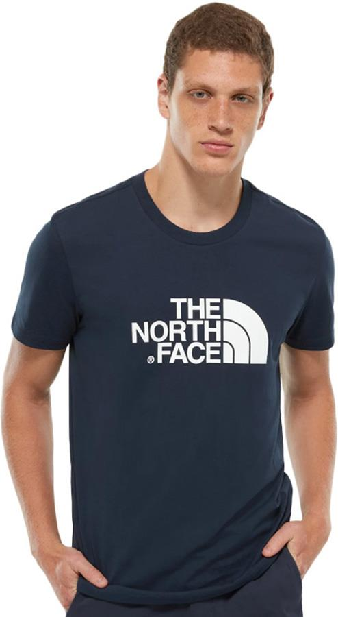 The North Face Short Sleeve Easy Tee Crew T-shirt, S Navy/TNF White